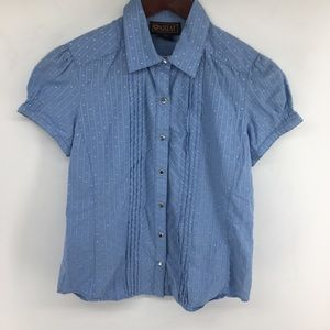 Ariat Baby Blue Snap Down Top